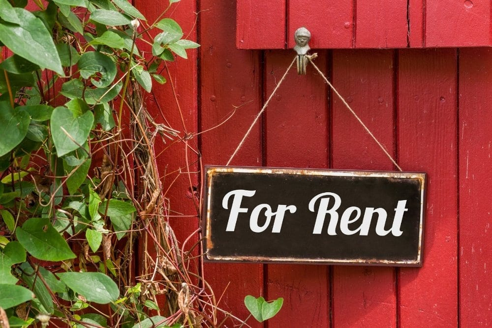 For rent sign on rental property